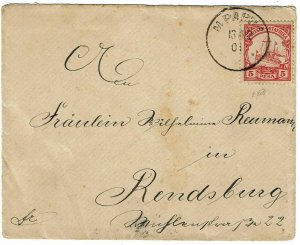German East Africa 1901 Mpanda cancel on cover to Germany