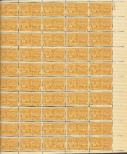 US Stamp - 1944 17c Special Delivery Motorcycle - 50 Stamp Sheet MNH #E18