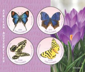 Gambia 2018 African Butterflies (ss/4v)
