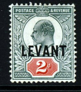 BRITISH LEVANT KE VII 1905 Overprint LEVANT on 2d. Chalk-Surfaced SG L4a MINT