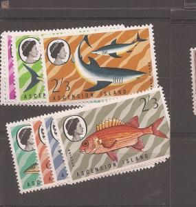 Ascension Fish SG 113-6,126-9 MNH (dbs)