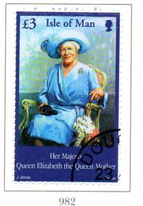 Isle of Man Sc 948 2002 Queen Mother Memorial stamp used