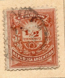 Argentina 1882 Early Issue Fine Used 1/2c. NW-11795