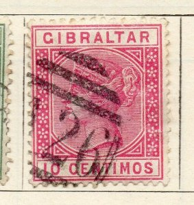 Gibraltar 1889 Early Issue Fine Used 10c. NW-114717
