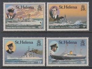 St Helena 475-478 Ships MNH VF
