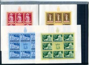 Croatia Set of 1944 sheets Mint VF NH