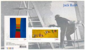 Canada  - #2322  JACK BUSH (ART)  SOUVENIR SHEET - MNH