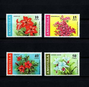 ANGUILLA - 1969 - FLOWERS - HIBISCUS - ORCHID - AMARYLLIS ++ MINT - MNH - SET!