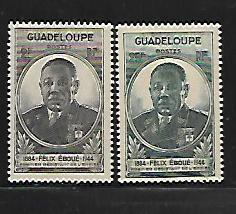 GUADELOUPE, 187-188, MINT HINGED, FELIX EBOUE