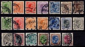 Denmark 1913-28 Christian X Definitives, Part Set [Used]