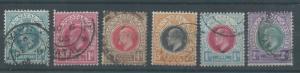 NATAL 1904 KEVII RANGE TO 2/- WMK MULTI CROWN
