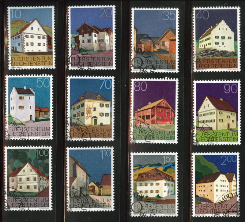 LIECHTENSTEIN Scott 638-649 Used CTO 1978 set CV $7.50