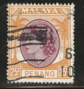 MALAYA Penang Scott 38 used 1954-55 QE2