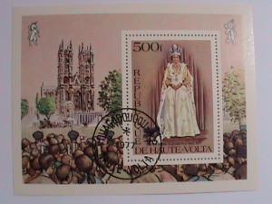 1977 UPPER VOLTA-QUEEN ELIZABETH CARONATION   SOUVENIR SHEET