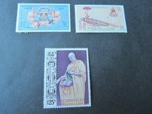 Laos 1973 Sc ,C84,C104-105 sets MNH