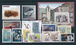 French Andorra 2015 Complete year set  MNH
