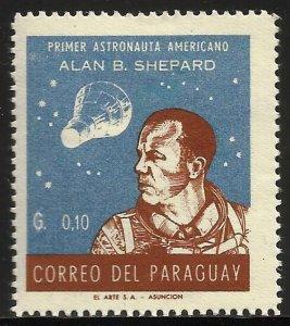 Paraguay 1961 Scott# 610 MH (gum disturbance)
