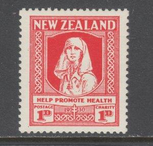 New Zealand Sc B2 MLH. 1938 1p+1p scarlet Nurse, complete set, VF.
