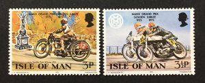 Isle of Man 1973 #33-4, Motorcycle Race, MNH.