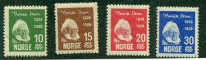 NORWAY #132-5, Mint Never Hinged, Scott $70.00