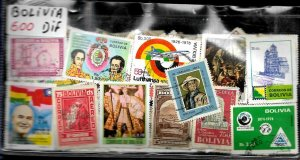 BOLIVIA 500 DIFFERENT STAMPS COLLECTION MNH/USED LOT SELECTED PACKET