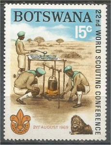 BOTSWANA, 1969, MH 15c, Boy Scouts cooking Scott 52