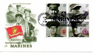 US FDC #3961-3964 Distinguished Marines, ArtCraft (0706)