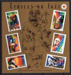 FRANCE SGMS3847 2002 JAZZ MUSIC MNH