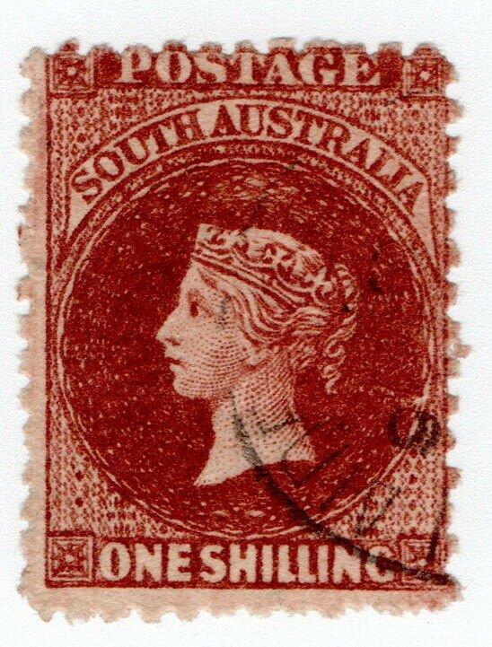 (I.B) Australia - South Australia Postal : 1/- Lake-Brown (SG 127)