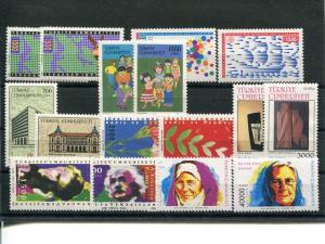 Turkey 1989/1996 Europa sets VF NH - Lakeshore Philatelics