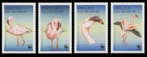 Angola Birds WWF Lesser Flamingo 4v SG#1402-1405 SC#1058 a-d MI#1321-1324