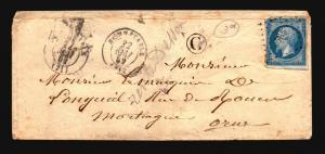 France 1862 Cover / Bonnetabie CDS / Light Creasaing - Z15691