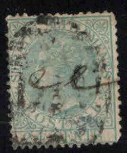 Straits Settlements Scott 15 Used  1867 Queen Victoria CC wmk, Thinned