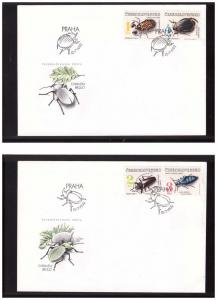 Czechoslovakia 1992 Insects FDC
