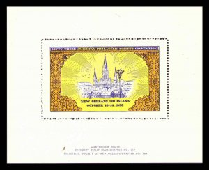 1938 CRESCENT CITY STAMP CLUB NEW ORLEANS SHOW 53rd APS Convention