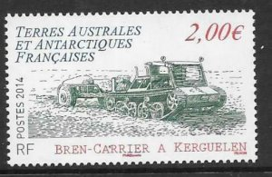 FRENCH SOUTHERN & ANTARCTIC TERRITORIES SG720 2014 BREN-CARRIER  MNH