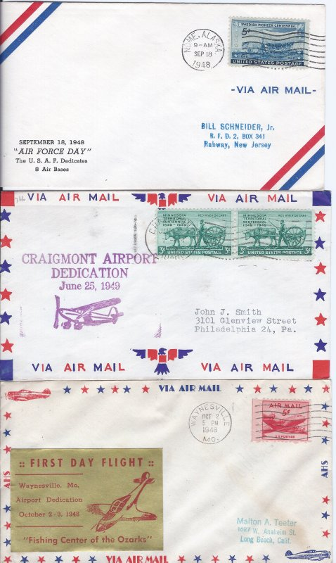 6 AIRMAIL SPECIAL EVENT COVERS STARTS AT A LOW PRICE!!