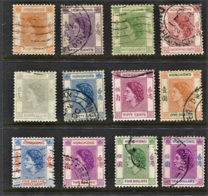 STAMP STATION PERTH Hong Kong #185-198 QEII Short Set Used - Unchecked