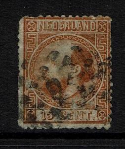 Netherlands SC# 9, Used, Few Short Perfs, Hinge Remnants - Lot 052117