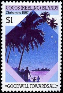 Cocos Islands #169-171, Complete Set(3), 1987, Never Hinged