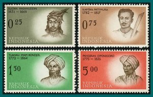 Indonesia 1961  Independence Heroes 1, MNH #524-538,SG870-SG884