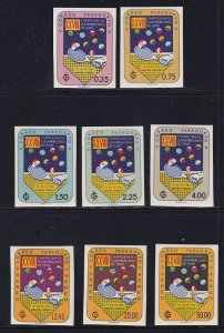 Paraguay  #605-609,C301-C303    MNH  1961  imperforated  tennis