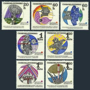 Czechoslovakia 1716-1721,MNH.Michel 1980-1785,2037. INTERCOSMOS space researches