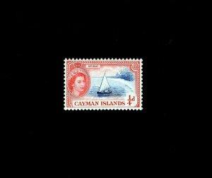CAYMAN ISLANDS - 1954 - QE II - CATBOAT - SAILBOAT - # 135 - MINT - MNH SINGLE!