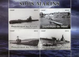 Chad MNH S/S Submarines 2014