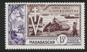 Madagascar Malagasy Scott C57 MNH** 1954 Liberation airmail