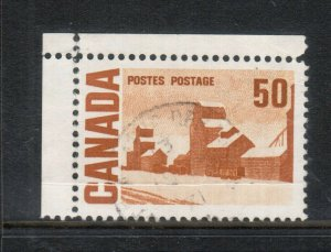 Canada #465a Very Fine Used Paper Fold Variety