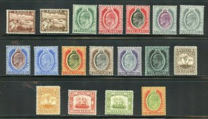 MALTA KING EDWARD VII DEFINITIVES SCOTT #28/45  MINT HINGED--SCOTT $387.00