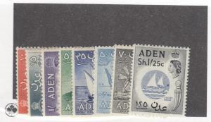 ADEN # 67-74 VF-MLH(Missing # 69) CAT VALUE $49.90