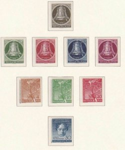 GERMANY BERLIN 1951  FREEDOM BELLS OTHERS MNH STAMPS ON 1 PAGE CAT £250   R 2509
